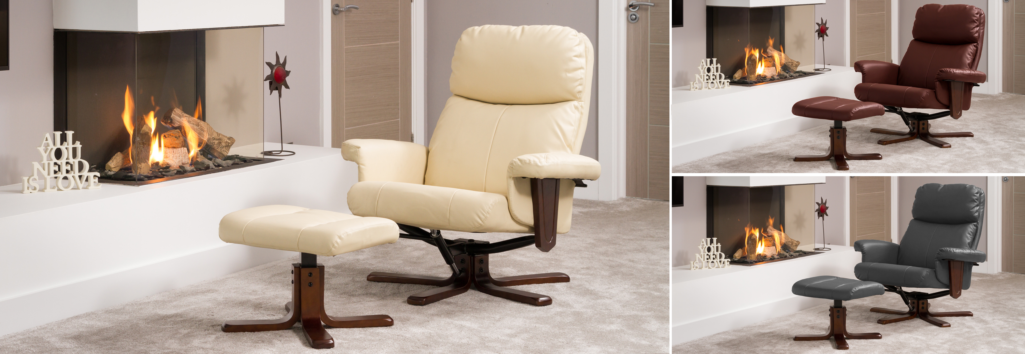 Dainton Swivel Chair cream