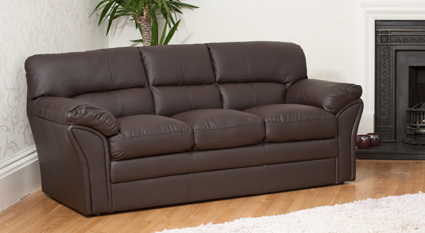 Danforth 3 seater brown