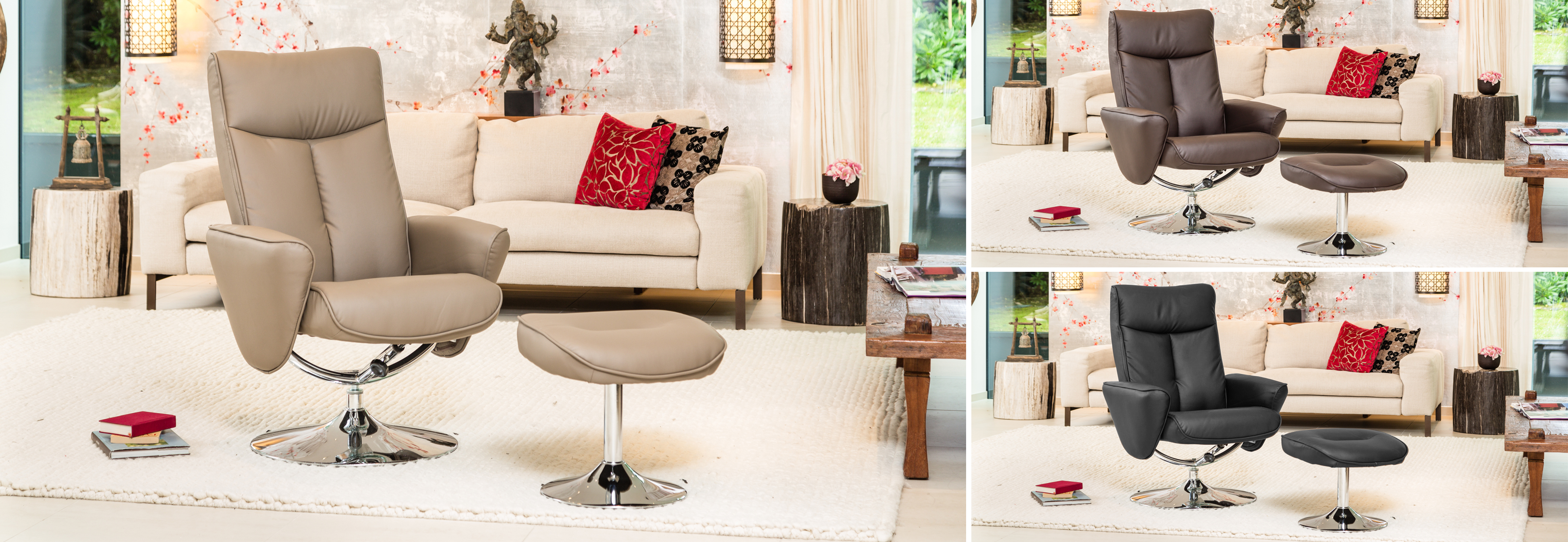 Deva Swivel Chair Beige