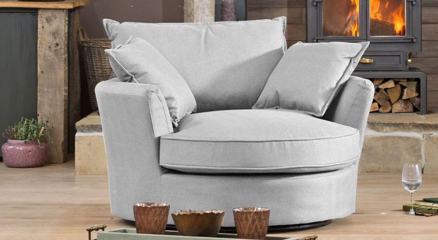 De Vere cuddle chair smoke