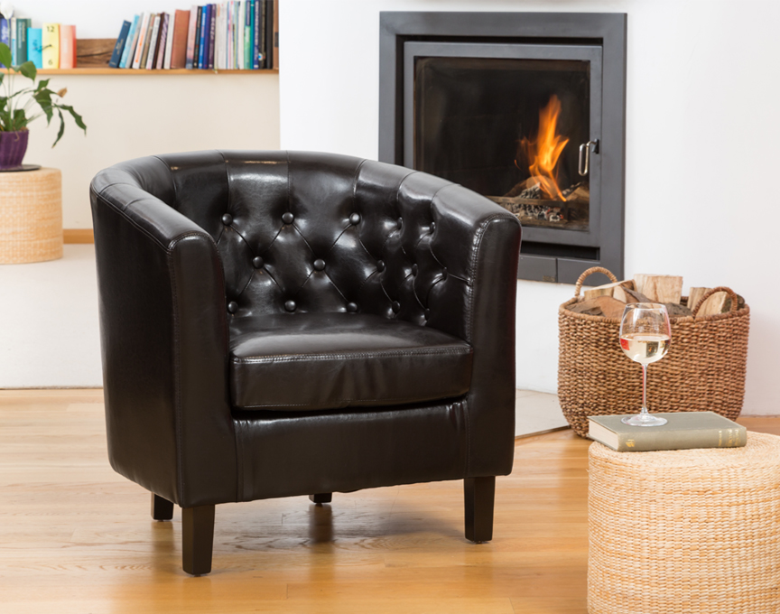 Duncan tub chair black