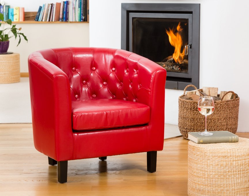 Duncan tub chair red