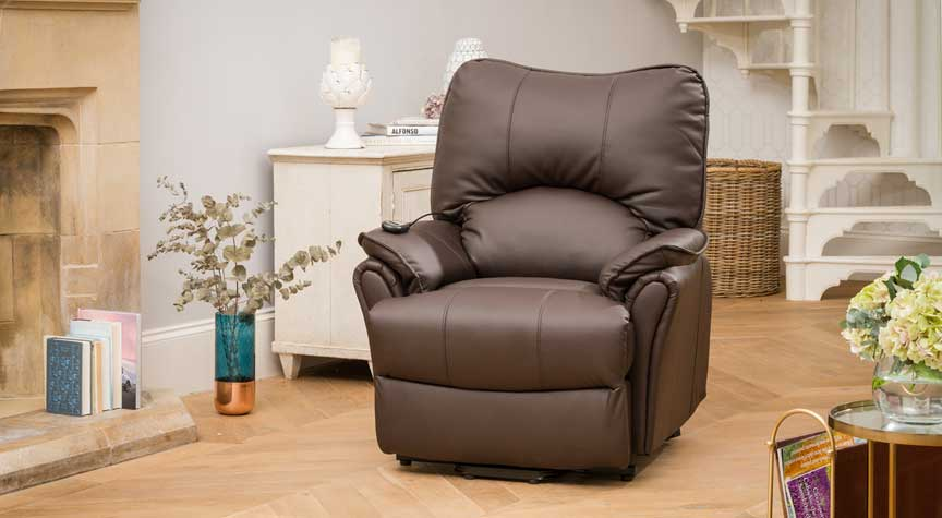 Eastleigh Riser Recliner Chair with Heat & Massage Brown