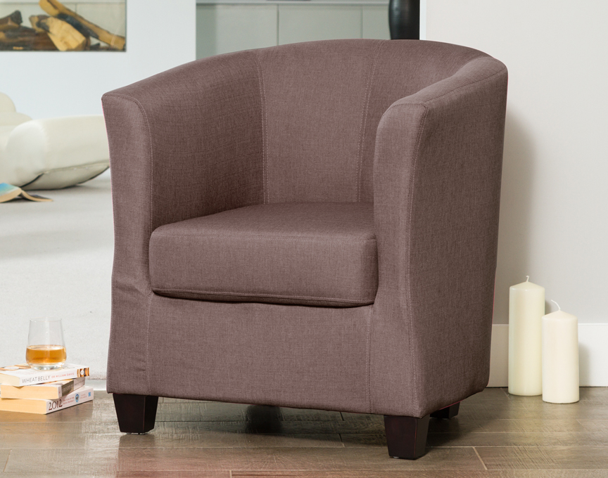 Filton tub chair dark grey
