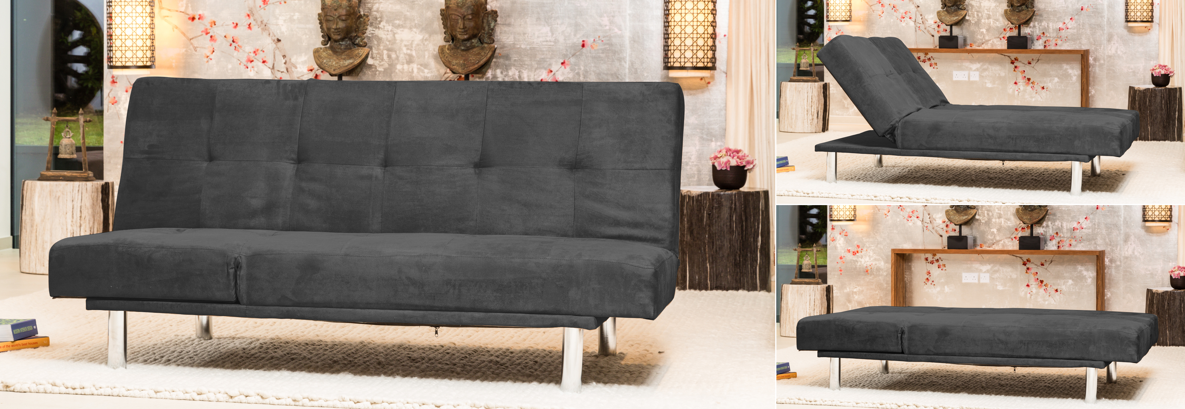Glendene Reclining Sofabed charcoal