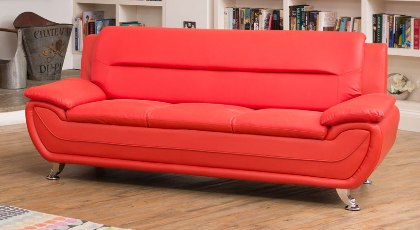 Gresham 3 Seat Sofa Red
