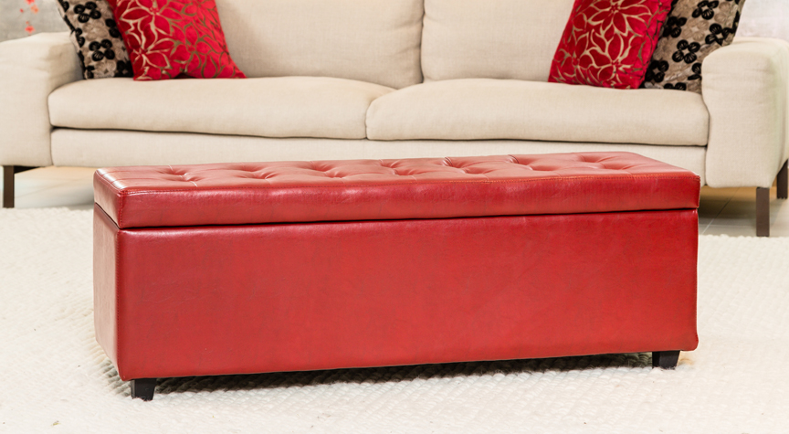 Grosvenor Ottoman Red