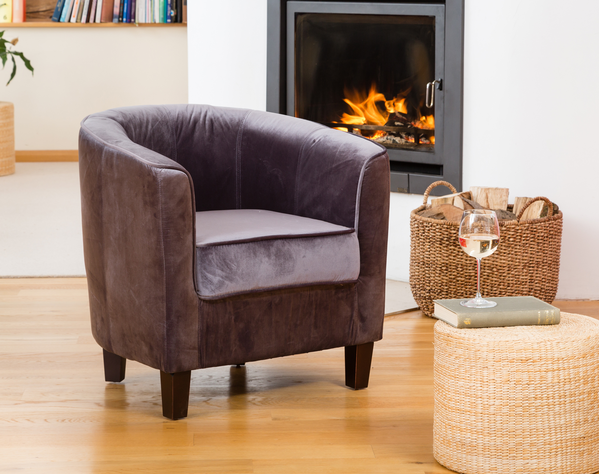 Hampden Tub Chair Charcoal