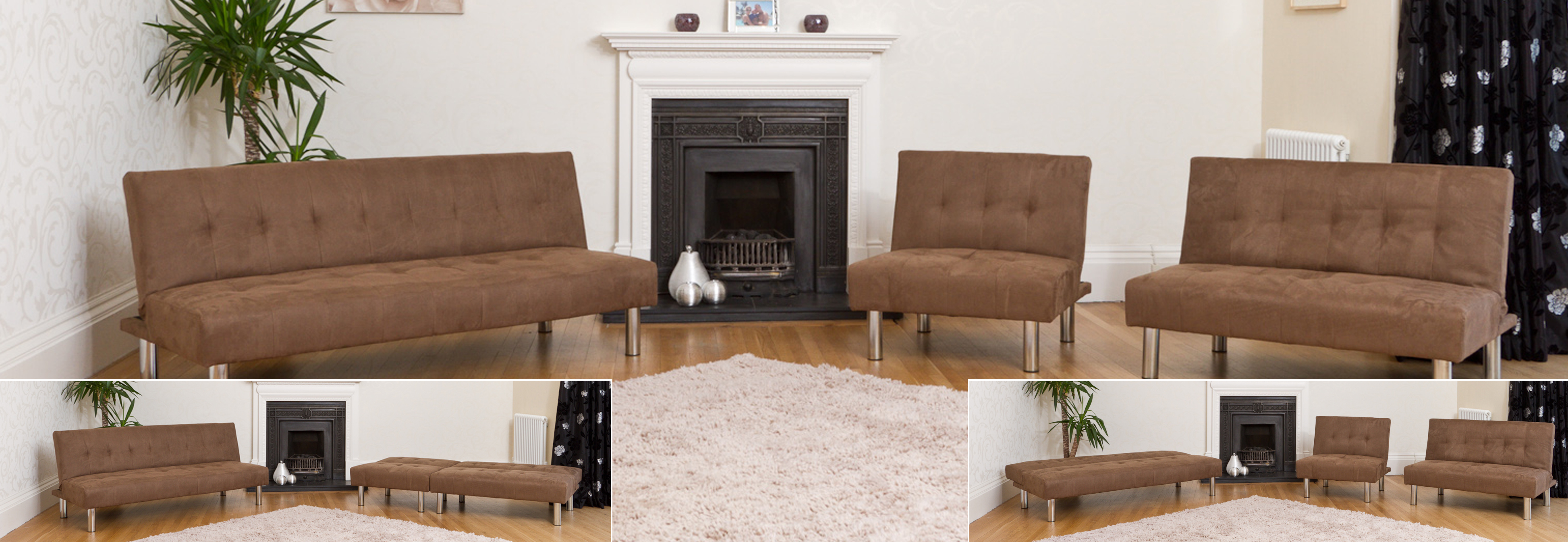 Harewood Reclining Sofabed cappuccino