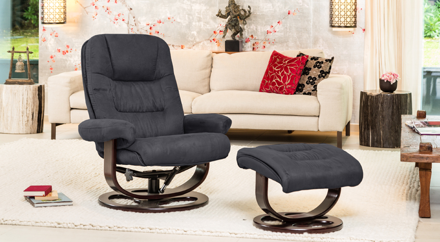 Hargrave Massage With Heat Swivel Chair Charcoal