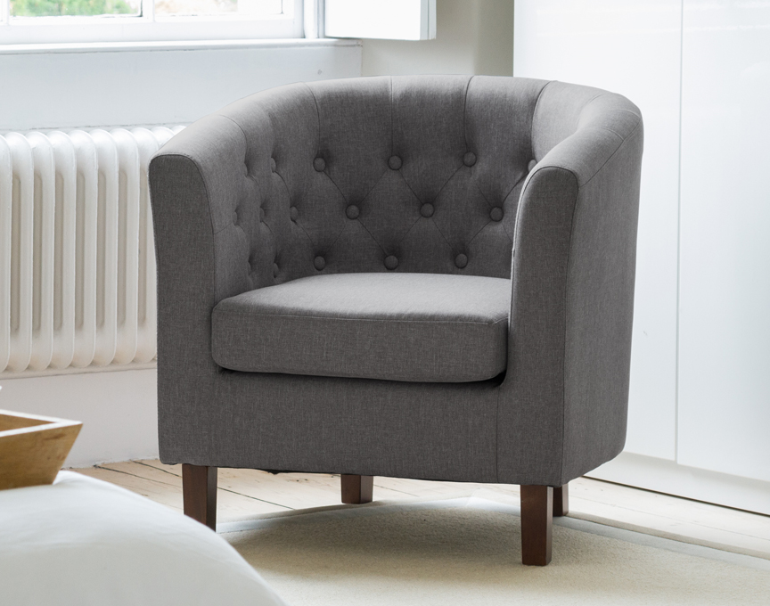 Hartcliffe tub chair dark grey
