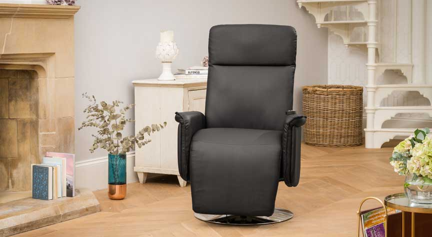 Keswick Recliner Chair with Heat & Massage Black