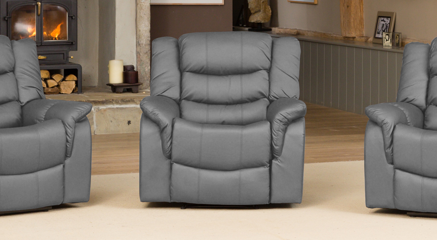 Kilcreene reclining armchair grey