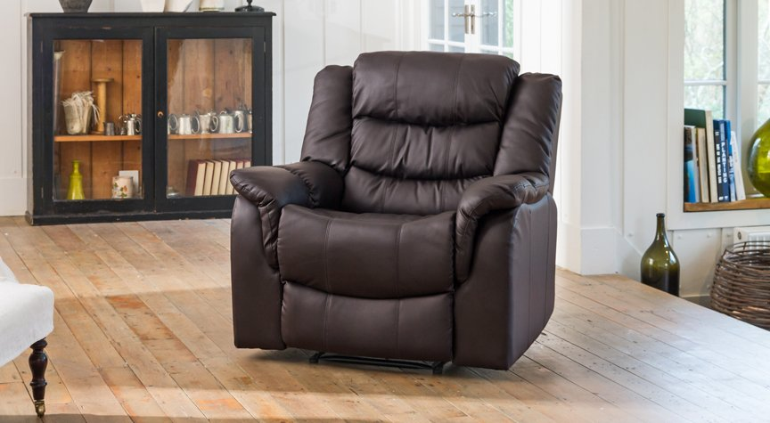 Kilcreene reclining armchair brown