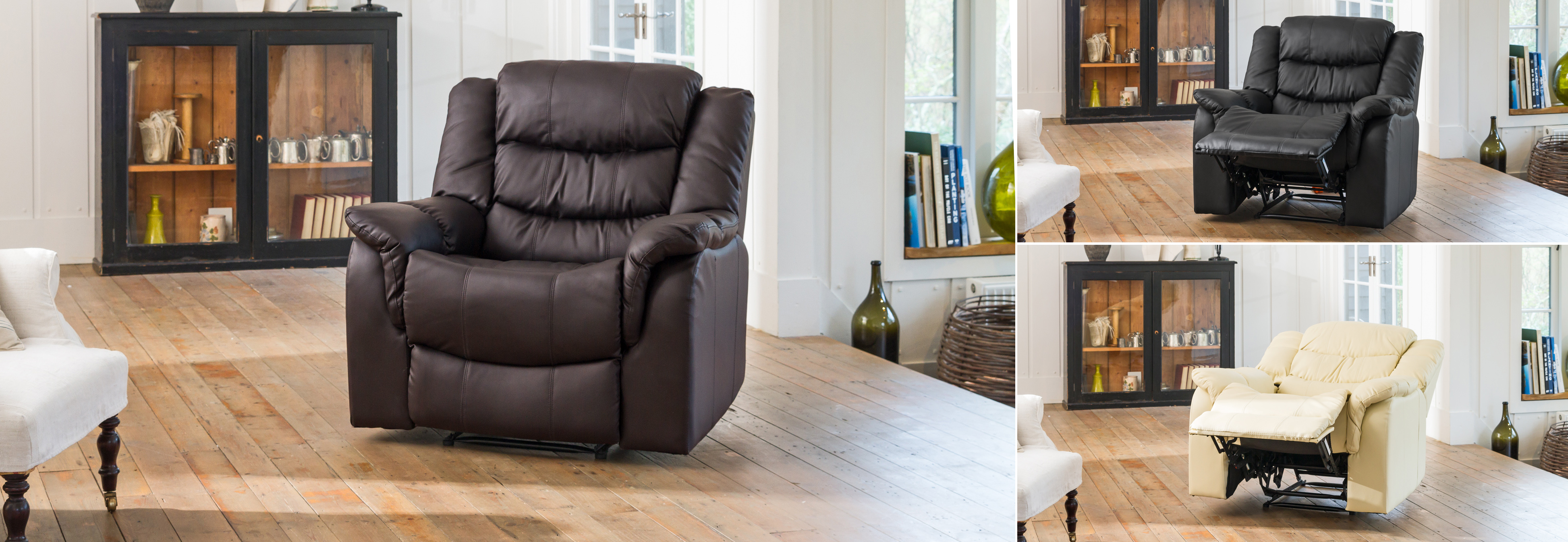 Kilcreene Reclining Chair  brown