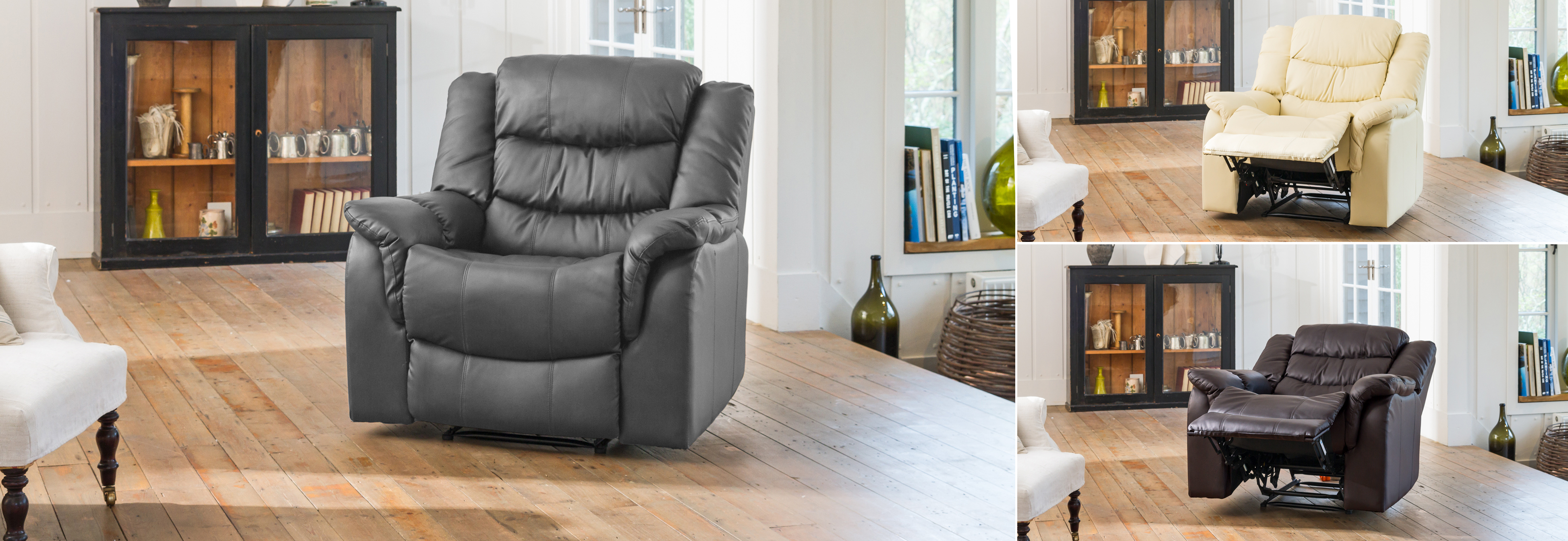 Kilcreene Reclining Chair  grey
