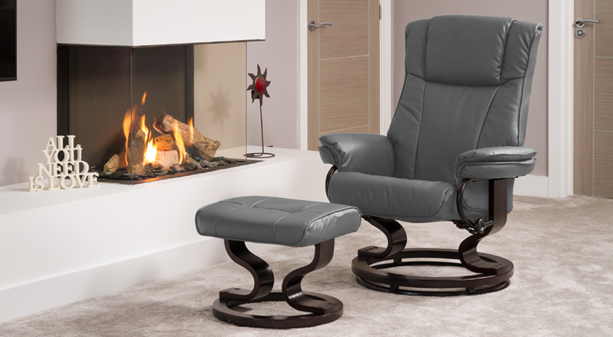 Leighton Massage Swivel Chair Grey