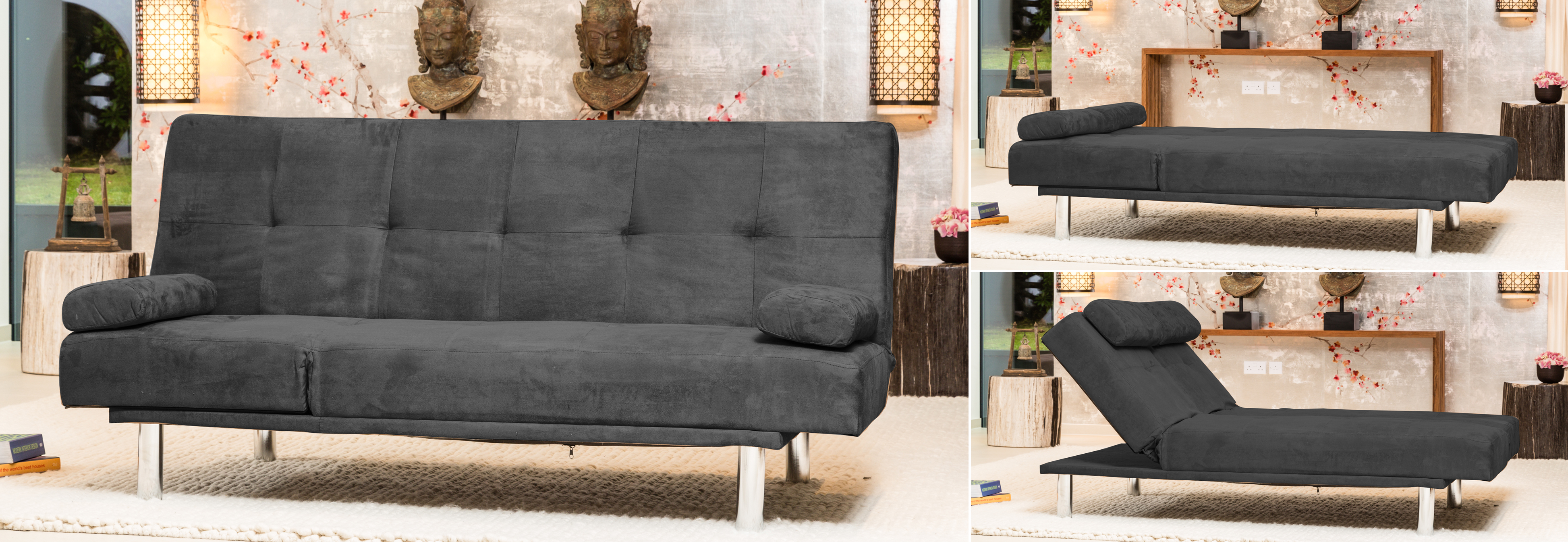 Leyburn Reclining Sofabed charcoal