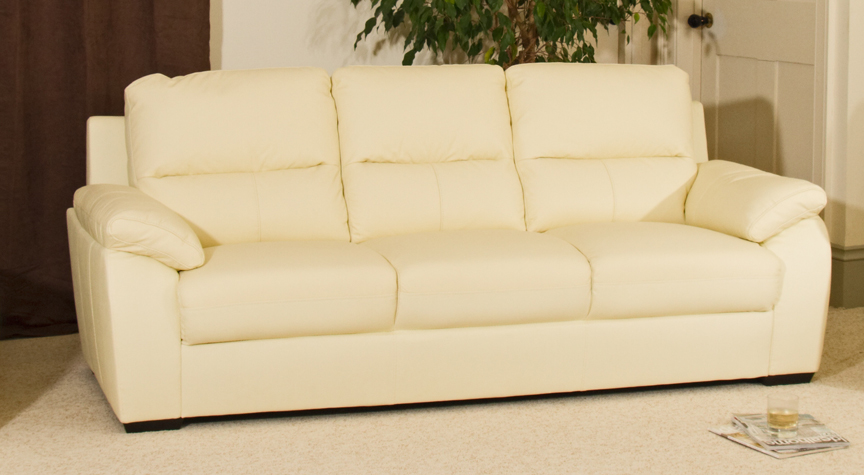 Malvern 3 seat sofa cream