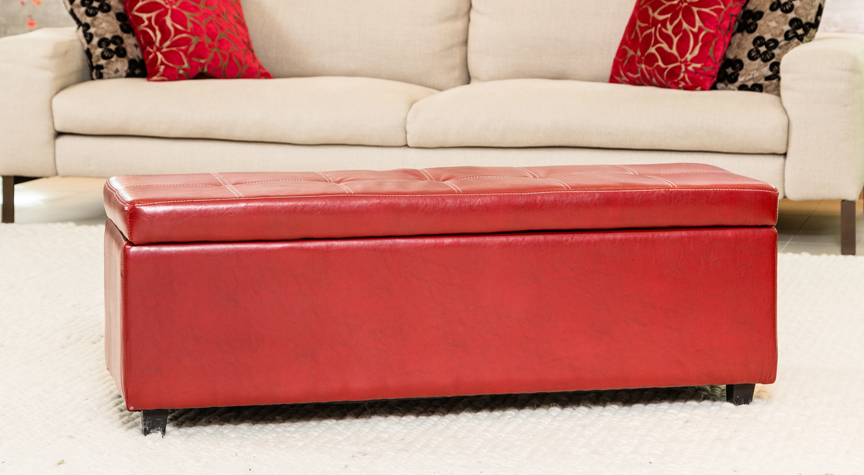 Mayfield Ottoman Red