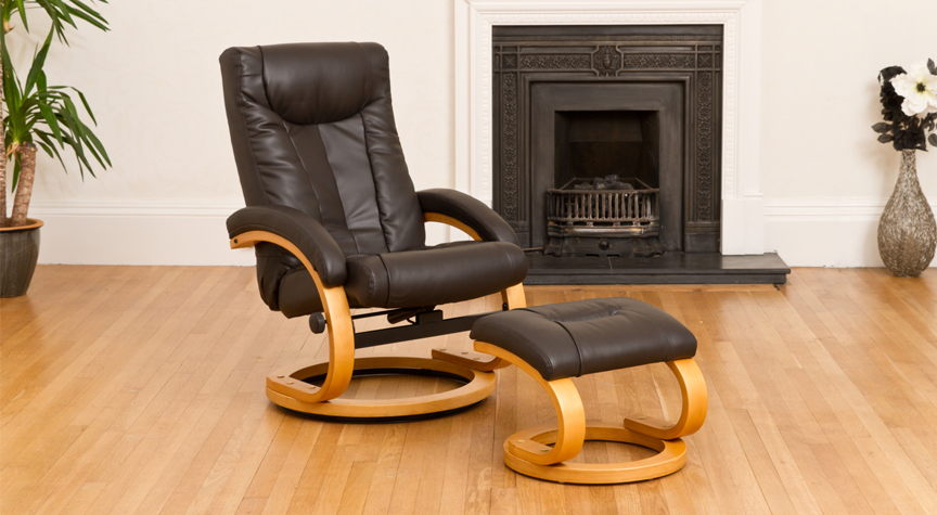 Montague Massage with Heat Swivel Recliner Brown
