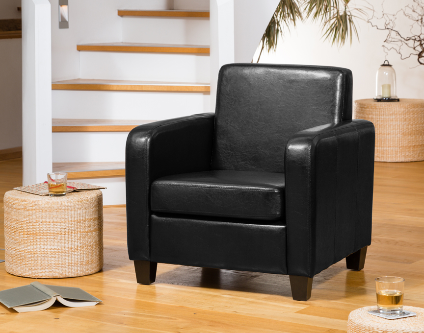 Nelson armchair black