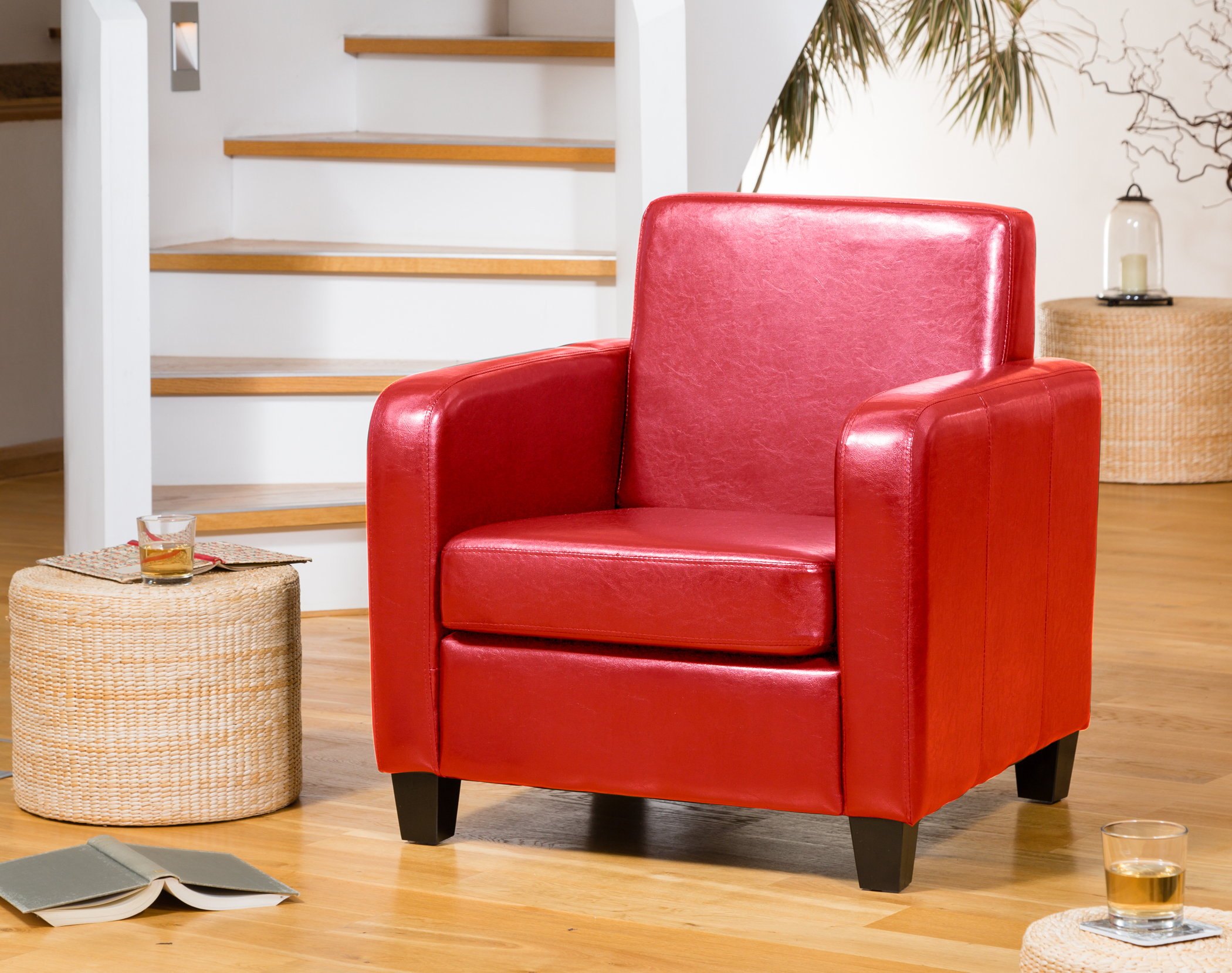 Nelson Armchair Red