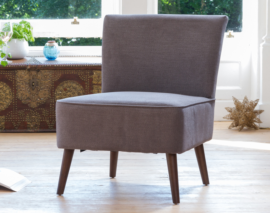 Newbury accent chair dark grey