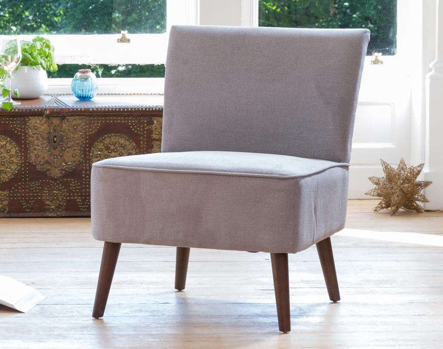 Newbury accent chair medium grey