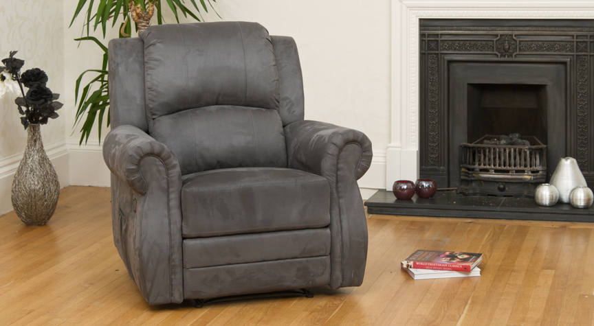 Ormonde reclining armchair charcoal