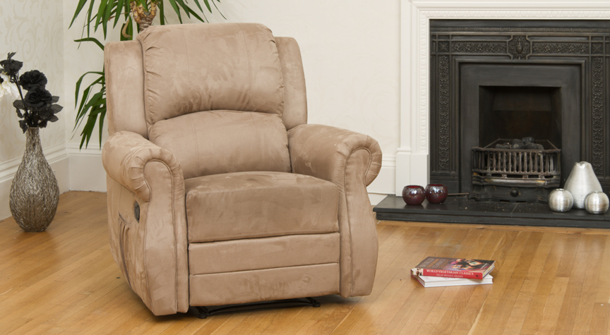 Ormonde reclining armchair light brown
