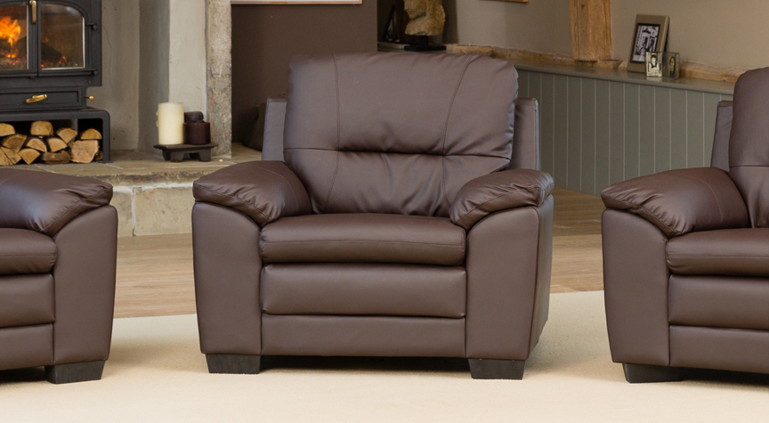 Oxford armchair brown