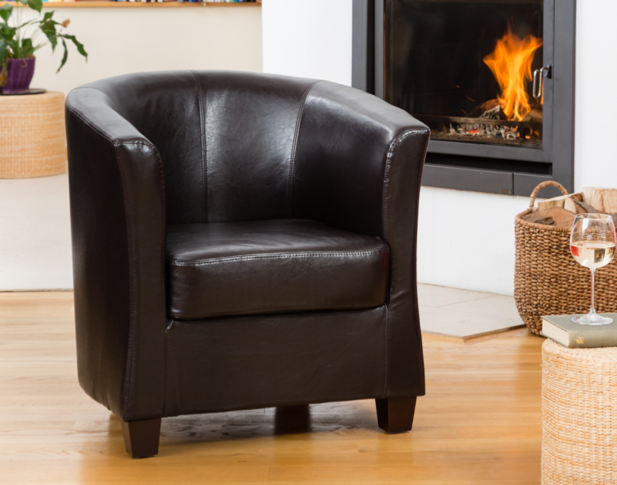 Pelham tub chair brown