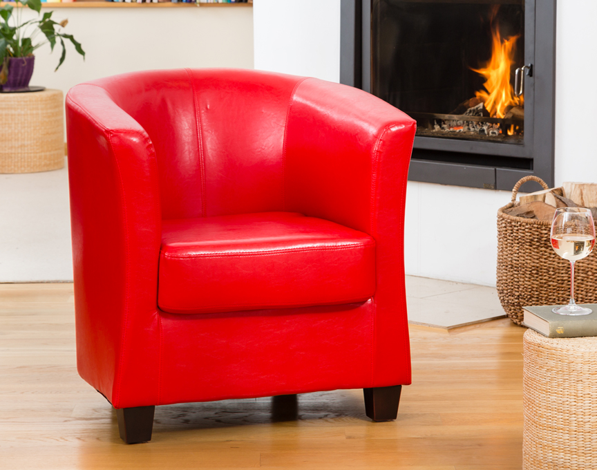 Pelham tub chair red
