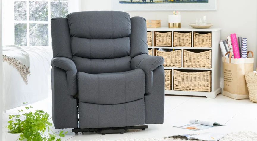 Portman recliner armchair dark grey