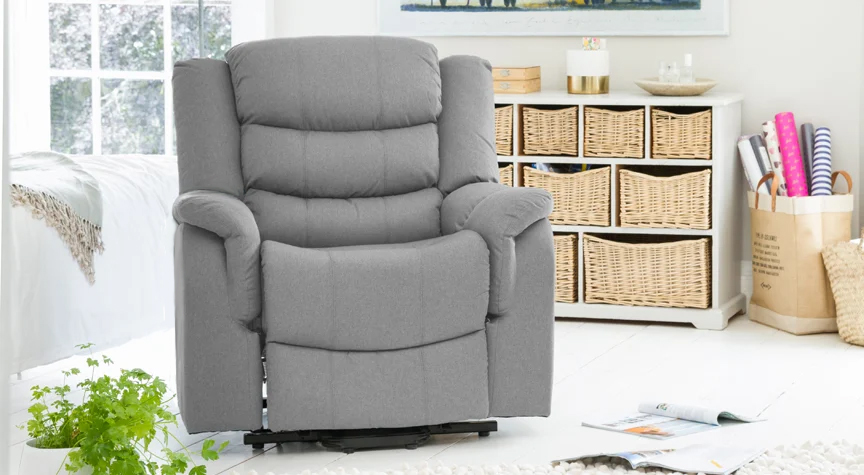 Portman Electric Riser Recliner Light Grey