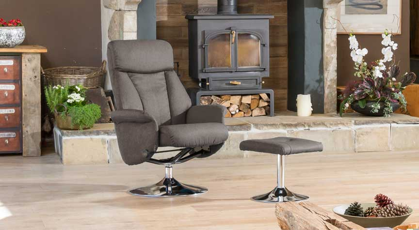 Poynton Swivel Chair Dark Grey
