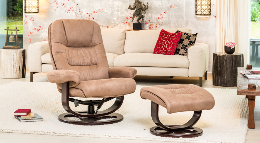 Riverdale Swivel Chair Mocha