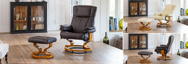 Rushden Swivel Chair Dark Brown At The Sofa Company