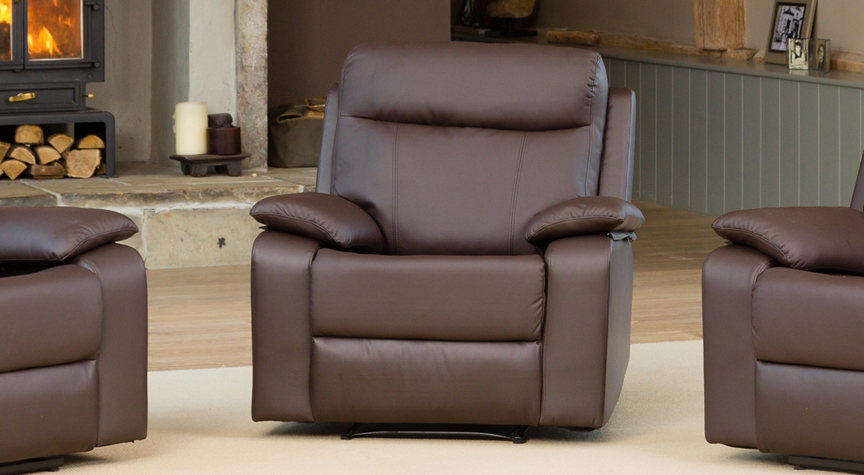Salisbury reclining armchair brown