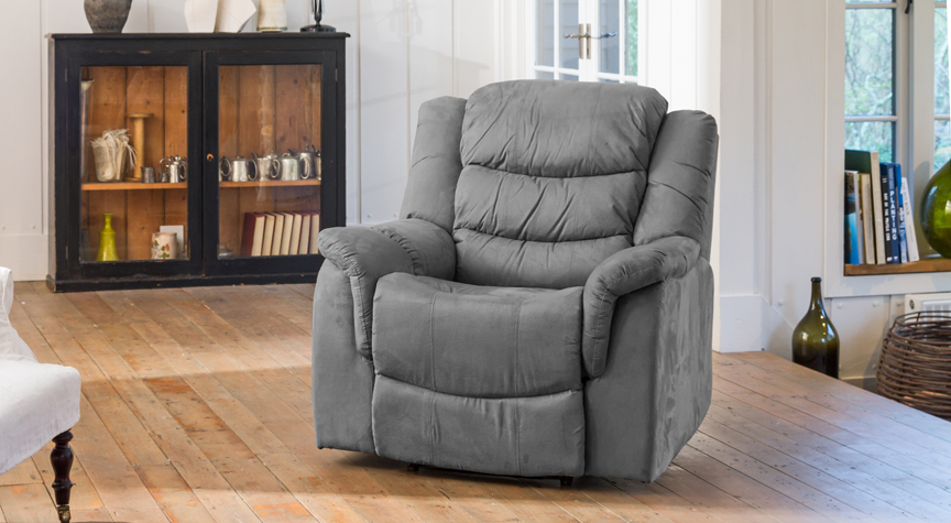 Seaton reclining armchair charcoal