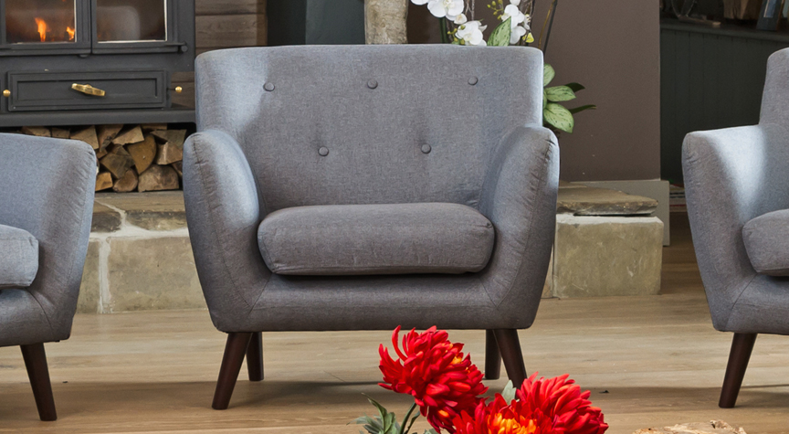 Selborne armchair dark grey