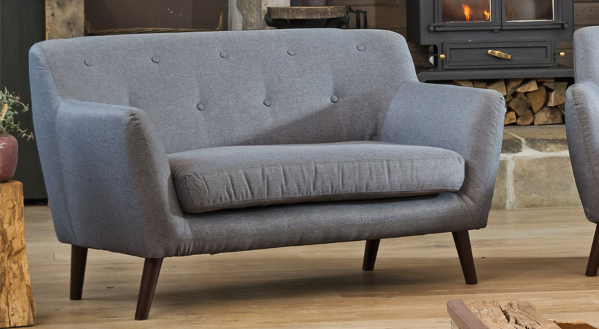 Selborne 2 seat sofa dark grey
