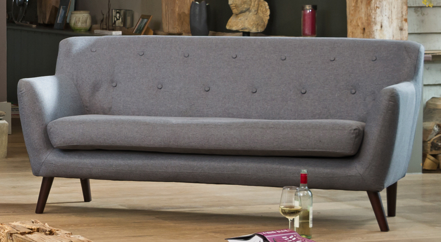 Selborne 3 seat sofa dark grey
