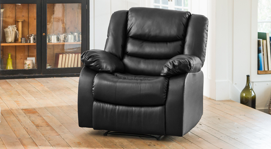 Seville reclining armchair black