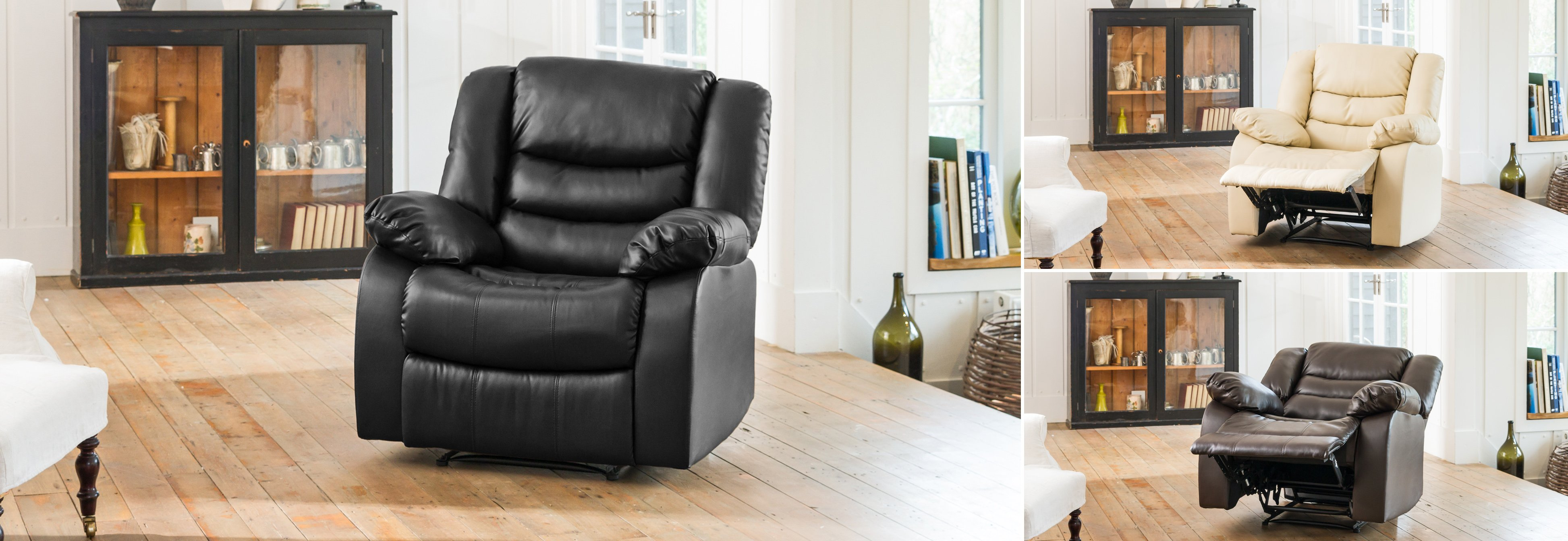Seville Reclining Chair black
