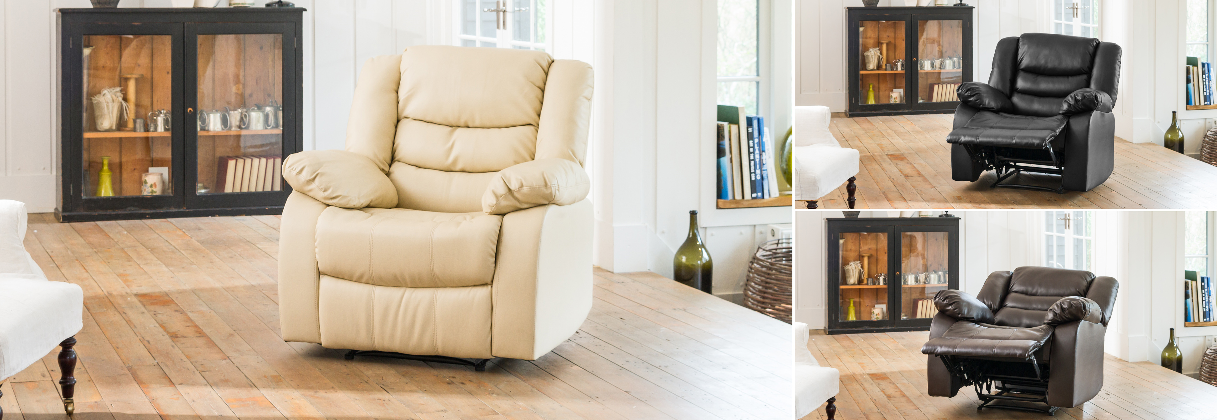 Seville Reclining Chair cream