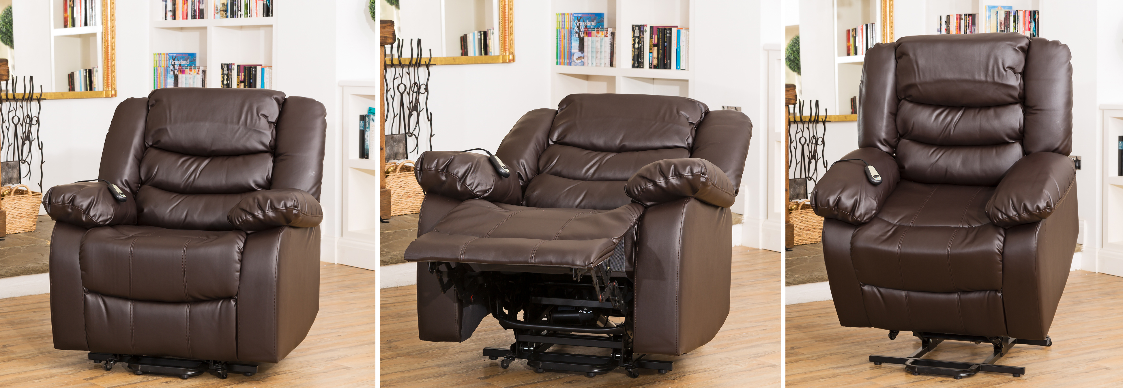 Seville Electric Riser Reclining Chair brown
