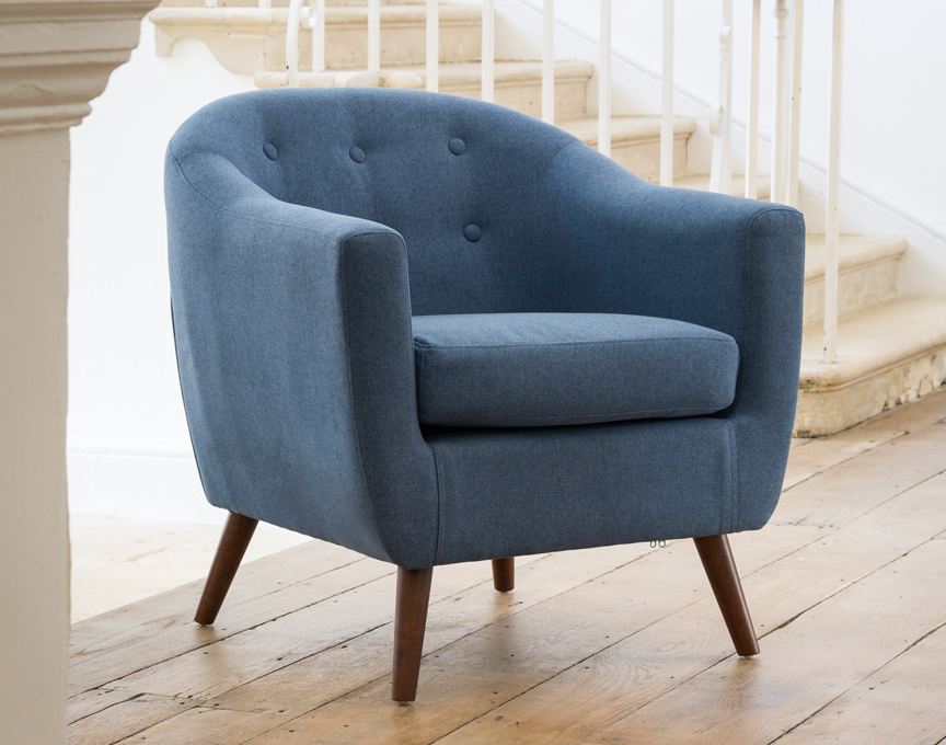 Shepton tub chair blue