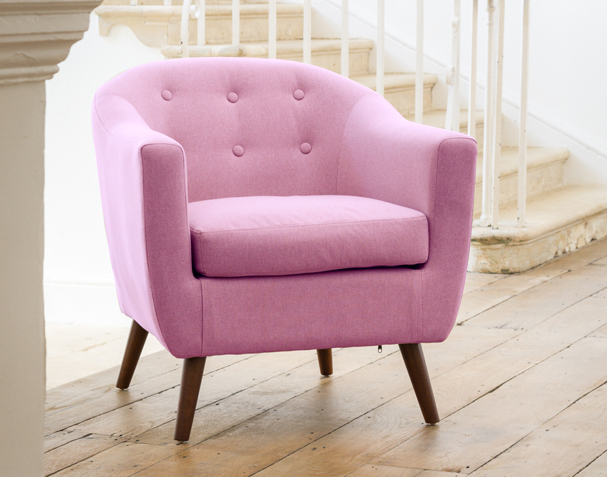 Shepton tub chair pastel lilac